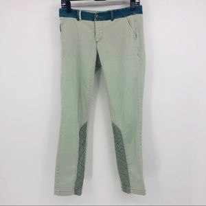 Anthropologie Pilcro lace trim chino pants